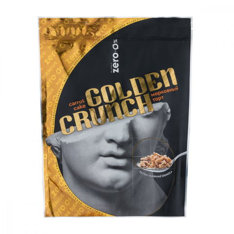 Гранола «Golden Crunch» со вкусом морковный торт, без сахара