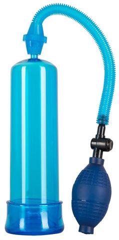 Синяя вакуумная помпа Bang Bang - 20 см.