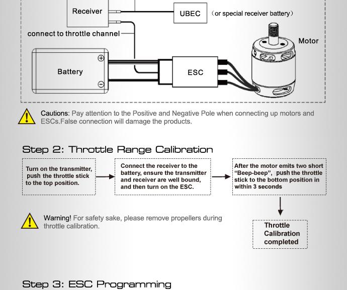 Схема подключения ESC регулятор мотора T-Motor 15A Air