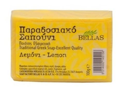 Греческое мыло лимонное Bellas 100 гр
