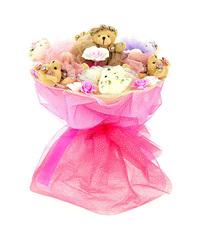 Пять медвежат в розовом