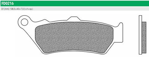 Тормозные колодки Newfren FD0216BT