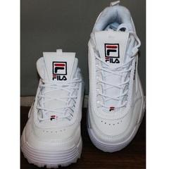 Белые женские кроссовки Fila Disruptor 2 all white RN-91175