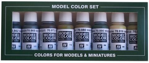 Model Color Panzer Colors (8) 17 ml.