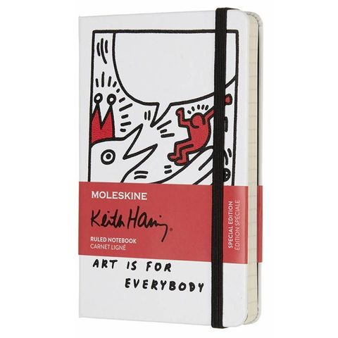 Блокнот Moleskine Limited Edition KEITH HARING LEKH01MM710 Pocket 90x140мм 192стр. линейка белый