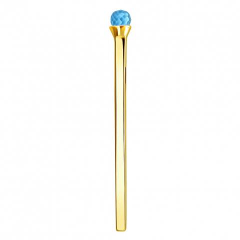 01П333558-3- Подвеска спичка с топазом из желтого золота 585 пробы