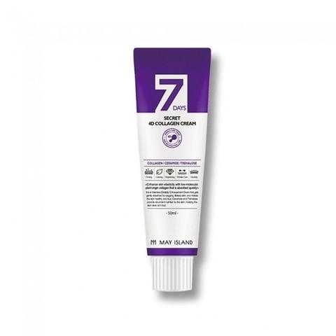 May Island 7 Days Secret 4D Collagen Cream крем с 4 видами коллагена