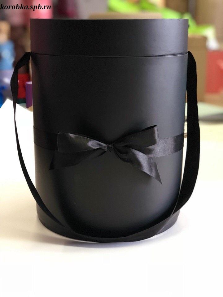 Шляпная коробка 22,5 см Цвет: черный . Розница 450 рублей .