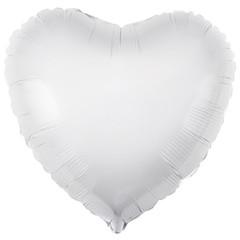 Аг 30''/76см, Сердце, Белый.