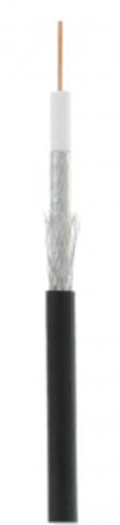 Кабель коаксиальный омедненный NETLAN RG-6 CCS, Out, PE (UEC-C2-32123B-BK-3) (305м.)