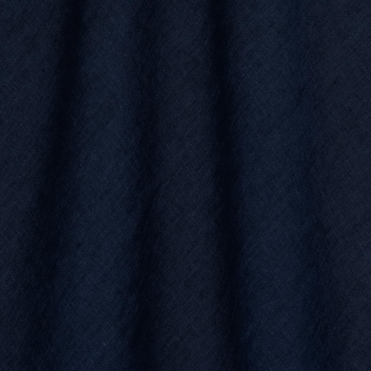 Тонкое льняное полотно тёмно-синего с чёрным цвета