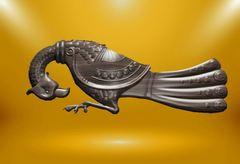 Силиконовый молд № 359 Винтажная птица большая левая