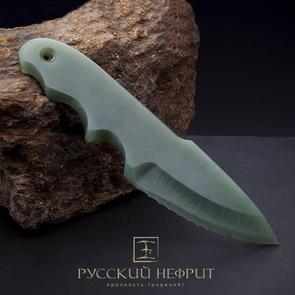 Ножи из нефрита Нож из салатного нефрита. Nozik_nephrit_inst.jpg