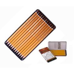 Набор чернографитных карандашей Koh-I-Noor 1502/III 5B-5H заточенные (12 штук в упаковке)