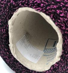 Вискоза с люрексом IGEA STRASS  2300 фуксия с черным