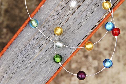 Ожерелье Estate длинное серебристое