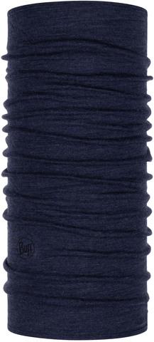 Шерстяной шарф-труба Buff Wool midweight Night Blue Melange фото 1