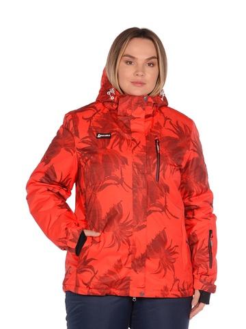 Куртка горнолыжная женская BATEBEILE красного цвета.