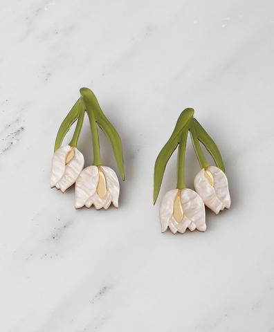 Серьги Double Tulip Earrings