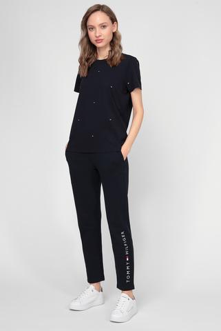 Женские темно-синие спортивные брюки Tommy Hilfiger