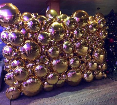 Фотозона круги/завезды золото 3х2м