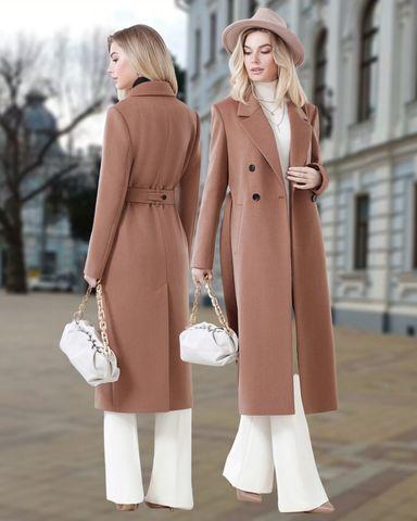 Пальто двубортное прямое