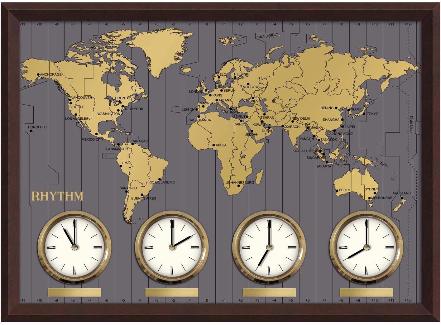 Настенные часы Rhythm CMW902NR06 (карта)