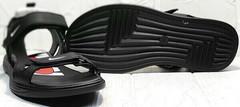Кожаные мужские сандалии босоножки открытые Nike 40-3 Leather Black.
