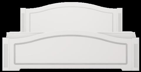 Кровать двуспальная Виктория 33 с латами Ижмебель 120х200 белый глянец