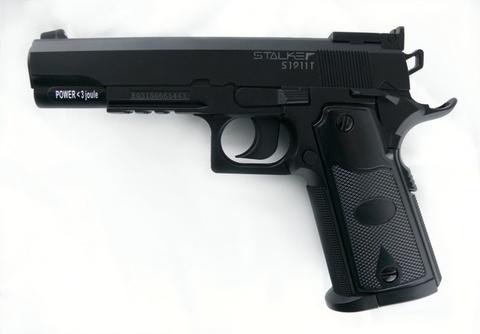 Пистолет пневматический Stalker S1911T (Colt 1911, пластик) 120 м/с