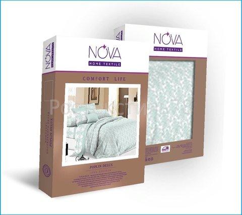 Постельное белье Евро бязь Люкс Nova 70х70 рис 1023