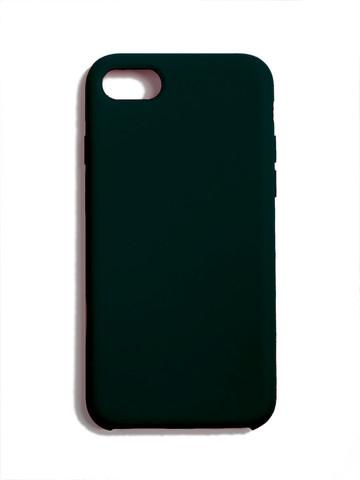 Чехол для iPhone 7/8/SE Софт тач мягкий эффект | микрофибра изумрудный