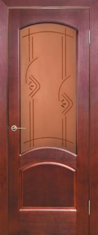 Дверь Классика (ясень красный, остекленная шпонированная), фабрика Зодчий