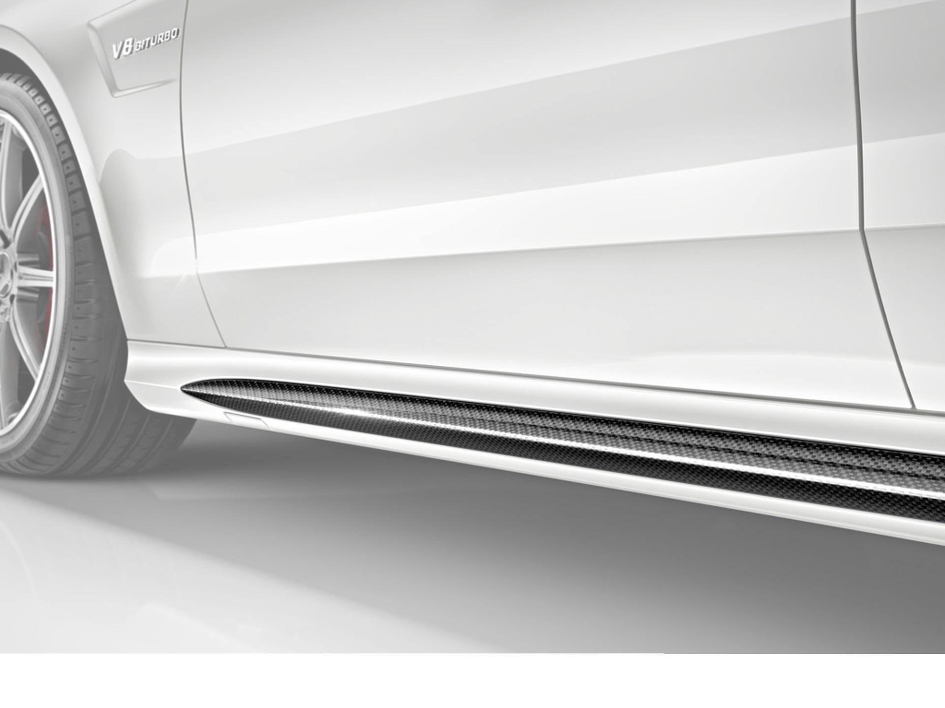 Карбоновые накладки на пороги 63 AMG Style для Mercedes E-class W212