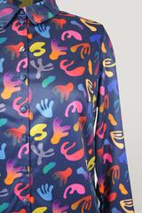 Блузка Laura Canorra 2080 абстракция акварель