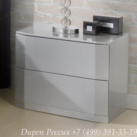 Тумба прикроватная DUPEN (Дюпен) М-102 серебро