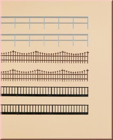 Металлические ограды - 3 вида, (H0/TT)