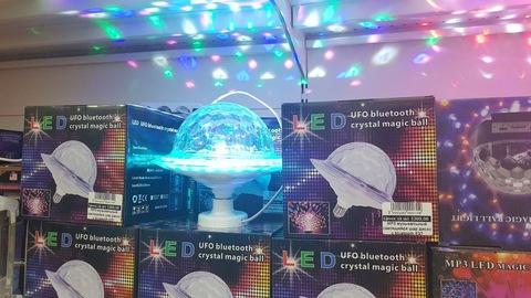 MP3 музыкальный светящийся шар диско с bluetooth E27