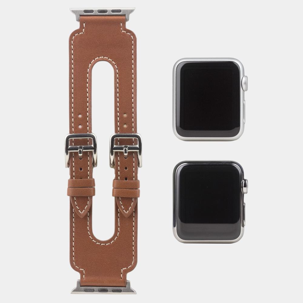 Ремешок для Apple Watch 42мм ST Double Buckle из натуральной кожи теленка, цвета голд