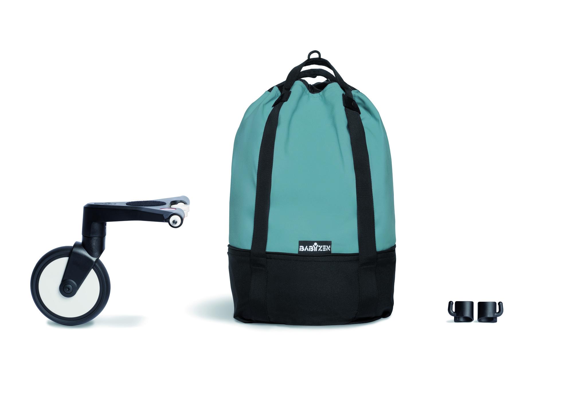 Сумка для коляски BABYZEN YOYO Bag с колесом платформой Aqua Аква