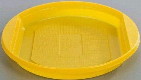 Тарелка десертная одноразовая ЭКО  (желтая) D=165 мм