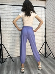 Спортивные штаны из трикотажа с резинкой купить