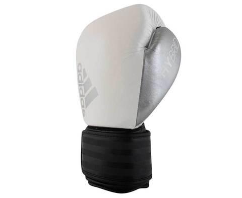 ПЕРЧАТКИ КОЖАНЫЕ ADIDAS HYBRID 200 бело-черно-серебристые