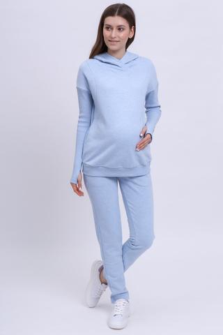 Спортивный костюм для беременных и кормящих 12427 голубой