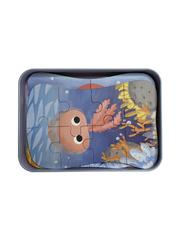 Развивающие пазлы в жестяной коробке Забавная головоломка FUN PUZZLE набор ОСЬМИНОГ Подводный мир 39 элементов, 5 пазлов