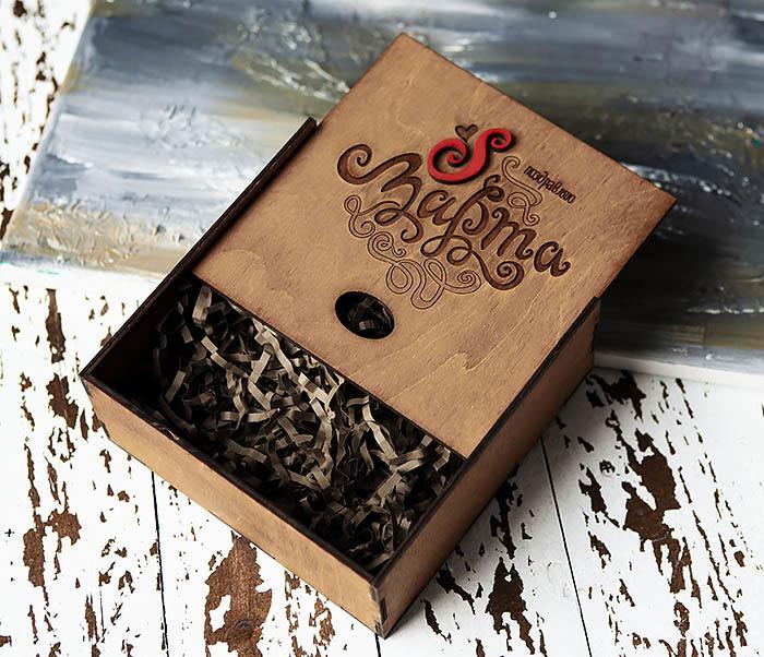 BOX223-2 Коричневая коробка для подарков на 8 марта (17*17*7 см) фото 04