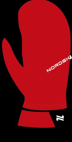 Теплые варежки Nordski Jr.Arctic Red Membrane