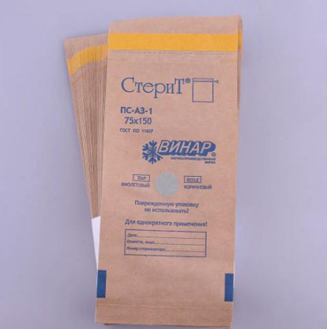 Крафт-пакет 75*150 (уп/100 шт)