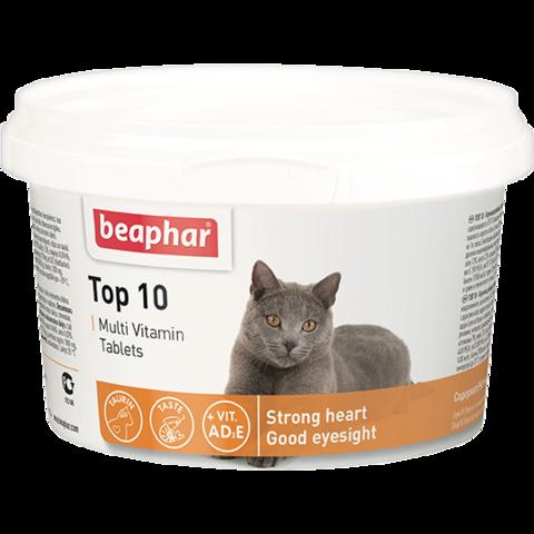 Beaphar Кормовая добавка Top 10 для кошек 180 таб.