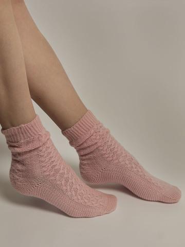Женские носки светло-розового цвета из 100% кашемира - фото 3